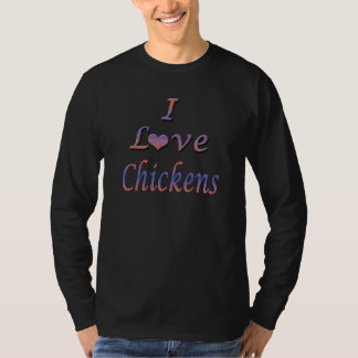 I Heart (Love) Chickens T-Shirt