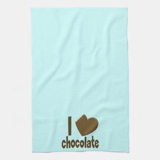 I Heart Love Chocolate Towels
