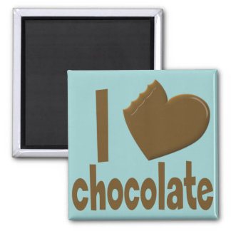 I Heart Love Chocolate Magnet