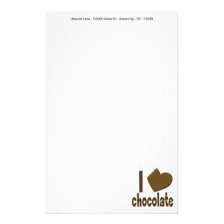 I Heart Love Chocolate Stationery
