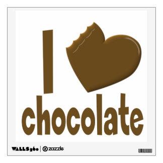 I Heart Love Chocolate Wall Sticker