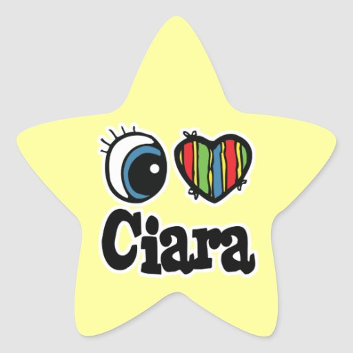 I Heart (Love) Ciara Star Sticker