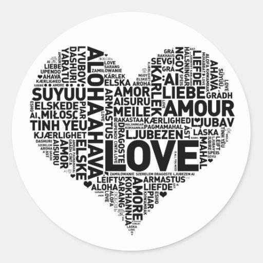 I HEART LOVE CLASSIC ROUND STICKER