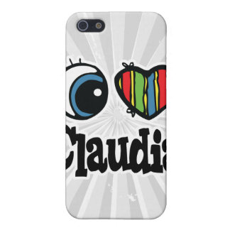 I Heart (Love) Claudia iPhone 5 Cases