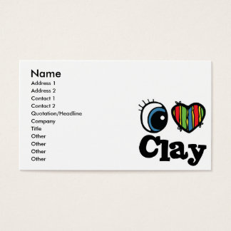 I Heart (Love) Clay Business Card