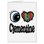 I Heart (Love) Clementine Greeting Cards