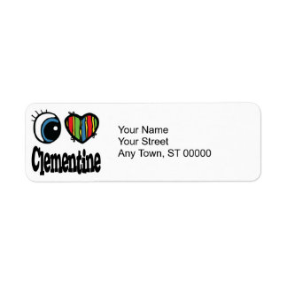 I Heart (Love) Clementine Label
