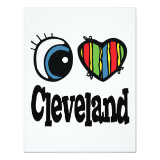 I Heart (Love) Cleveland Personalized Invitations