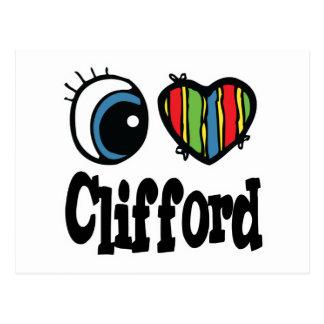 I Heart (Love) Clifford Postcard