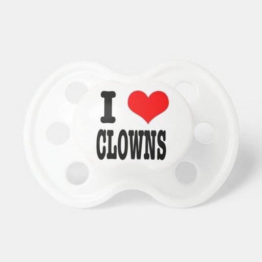 I heart love clowns BooginHead pacifier