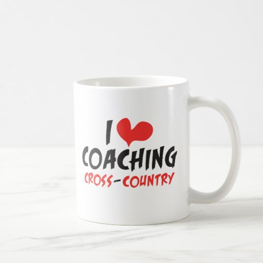 I heart (love) Coaching Cross Country Classic White Coffee Mug