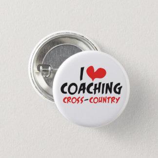 I heart (love) Coaching Cross Country Pinback Button