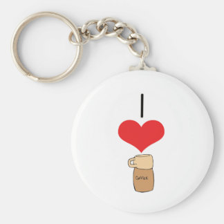 I Heart Love Coffee Key Chain
