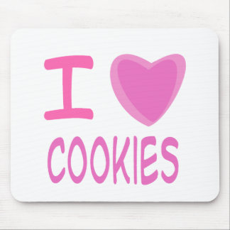 I Heart (Love) cookies Mouse Pad
