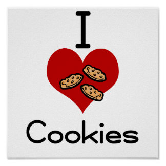 I heart-love cookies print