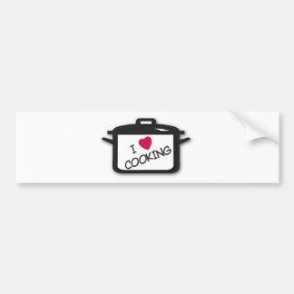 I Heart / Love Cooking Bumper Sticker
