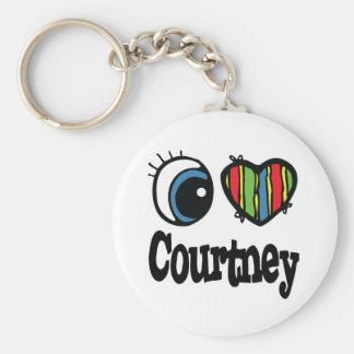 I Heart (Love) Courtney Key Chain