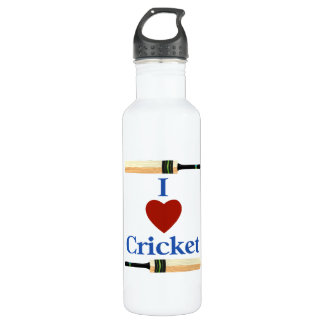 I Heart (Love) Cricket Water Bottle