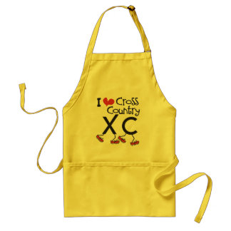 I heart (love) Cross Country Running XC Apron