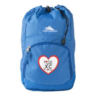 I heart (love) Cross Country Running XC Backpack