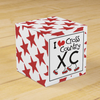I heart (love) Cross Country Running XC Favor Box