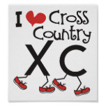 I heart (love) Cross Country Running XC Posters