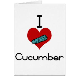 I heart-love cucumber card
