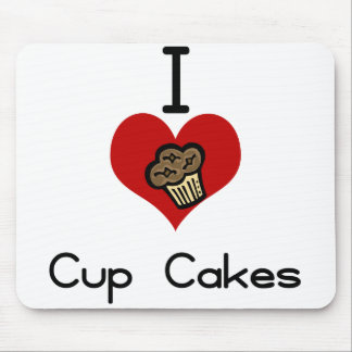 I heart-love cupcakes mouse pad