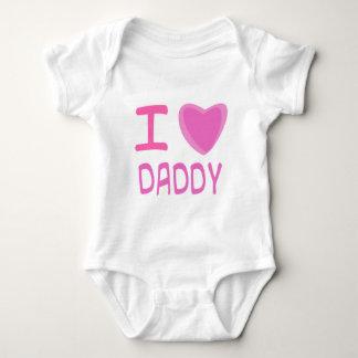I Heart (Love) daddy Baby Bodysuit