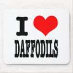 I HEART (LOVE) DAFFODILS MOUSE PADS