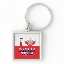 I Heart Love Dallas Texas Keychain