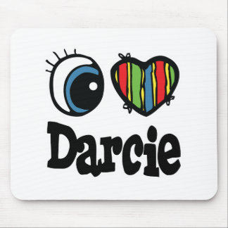 I Heart (Love) Darcie Mouse Pad