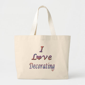 I Heart (Love) Decorating Canvas Bag