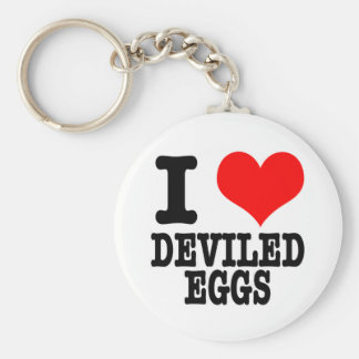 I HEART (LOVE) DEVILED EGGS KEYCHAIN