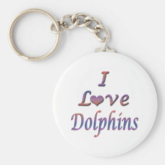 I Heart (Love) Dolphins  Key Chains