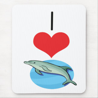 I Heart (Love) Dolphins Mouse Pad