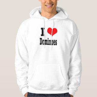 I HEART (LOVE) dominoes Hoodie