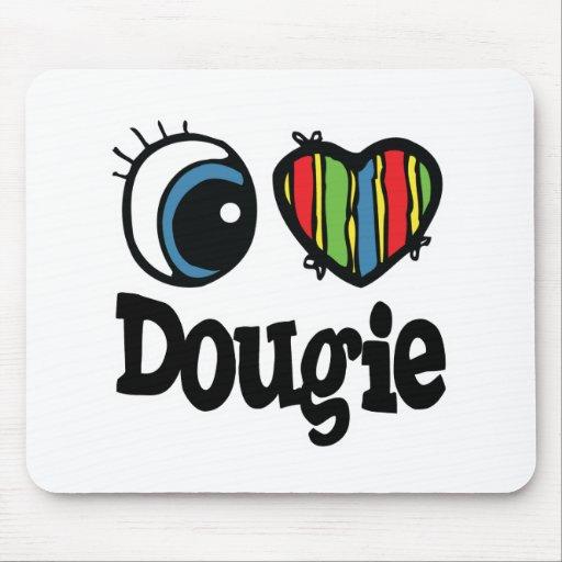 I Heart (Love) Dougie Mouse Mats