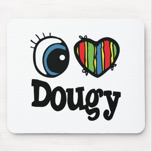 I Heart (Love) Dougy Mouse Pad
