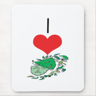 I Heart (Love) Drama Masks Mouse Pad
