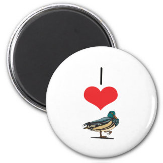 I Heart (Love) Ducks Refrigerator Magnet