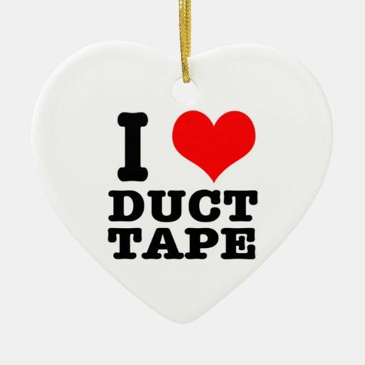 I HEART (LOVE) duct tape Christmas Tree Ornaments