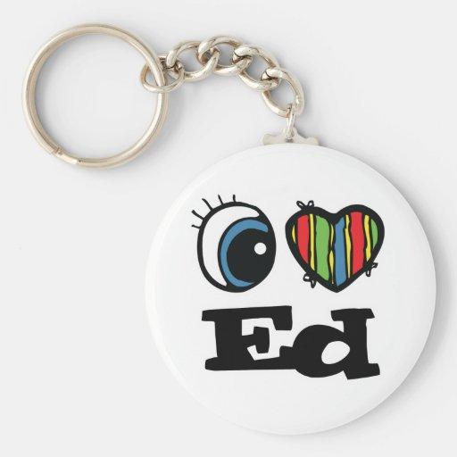 I  Heart (Love) Ed Keychain