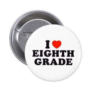 I Heart / Love Eighth Grade Pinback Button