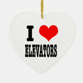I HEART (LOVE) elevators Christmas Ornaments