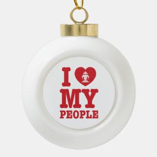 I Heart (Love) Erawan My Lao People Ceramic Ball Christmas Ornament