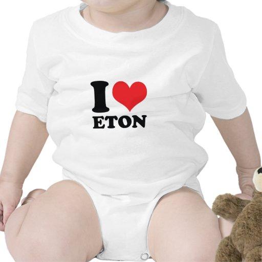 I Heart / love Eton Baby Bodysuits