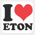 I Heart / love Eton Square Sticker