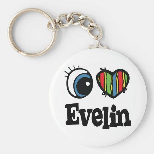 I  Heart (Love) Evelin Key Chains