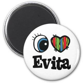 I  Heart (Love) Evita 2 Inch Round Magnet